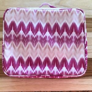 NWOT! PINK AND WHITE BAREMINERALS MAKEUP BAG!